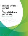 Brenda Lynne Carnell V Cheryl Grimm 013096