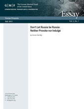 Don't Let Russia be Russia: Neither Provoke nor Indulge