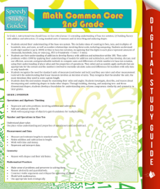 Math Common Core 2nd Grade (Speedy Study Guide)