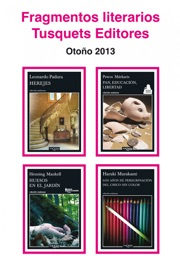 Fragmentos literarios Tusquets Editores Otoño 2013 PDF Download