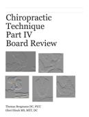 Chiropractic Technique Part IV Board Review  Boards