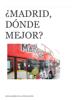 "Elena RamГrez de la Piscina Ortiz - MADRID, ВїDГ""NDE MEJOR? portada"