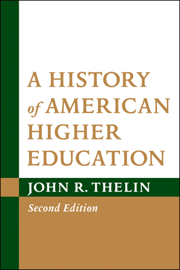 A History of American Higher Education book