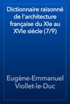 Dictionnaire Raisonn De Larchitecture Franaise Du XIe Au XVIe Sicle 79