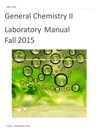 General Chemistry II Laboratory Manual