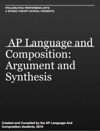 AP Language And Composition Argument And Synthesis