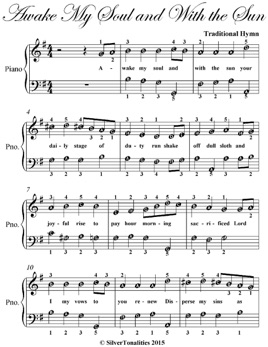 ‎Awake My Soul and With the Sun Easy Piano Sheet Music
