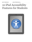 10 iPad Accessibility Features for Students