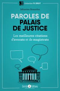 Paroles de palais de justice La couverture du livre martien