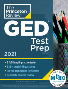 Princeton Review GED Test Prep, 2021 Book Cover