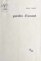Download and Read Online Paroles d'assaut