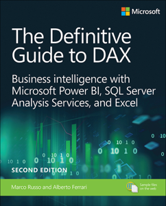 Definitive Guide to DAX, The: Business intelligence for Microsoft Power BI, SQL Server Analysis Services, and Excel, 2/e Copertina del libro