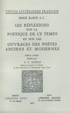 Les Réflexions Sur La Poétique De Ce Temps Et Sur Les Ouvrages Des Poètes Anciens Et Modernes