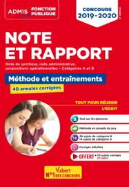 Note et Rapport - Méthode et entraînements - 40 annales corrigées