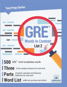 GRE Words In Context: List 2
