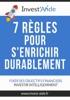 7 règles pour s'enrichir durablement