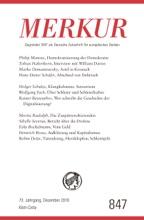 MERKUR Gegründet 1947 als Deutsche Zeitschrift für europäisches Denken - 2019-12