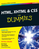 HTML, XHTML and CSS For Dummies Book Cover