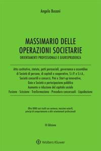Massimario delle operazioni societarie Book Cover