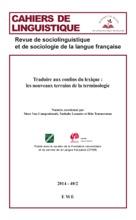 Traduire Aux Confins Du Lexique : Les Nouveaux Terrains De La Terminologie