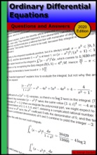 Ordinary Differential Equations: Questions And Answers (2020 Edition)