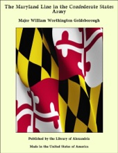 The Maryland Line In The Confederate States Army