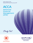 ACCA - Advanced Financial Management (AFM)