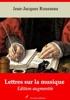 Lettres Sur La Musique – Suivi D'annexes