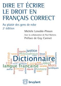 Dire et écrire le droit en français correct La couverture du livre martien