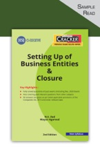 Taxmann's CRACKER – Setting Up Of Business Entities & Closure - 2nd Edition