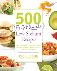 500 15-Minute Low Sodium Recipes by Dick Logue Book Cover