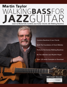 Martin Taylor Walking Bass For Jazz Guitar Copertina del libro