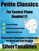 Petite Classics For Easiest Piano Booklet E1 – Canon In D Major Pathetique Sonata 2nd Mvt Sheep May Safely Graze Letter Names Embedded In Noteheads For Quick And Easy Reading