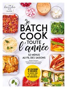 Batch cooking pour toute l'année Couverture de livre