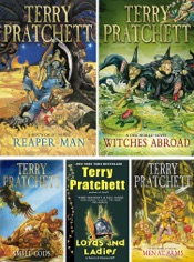 Download and Read Online Discworld series by Terry Pratchett Volume III: Reaper Man, Witches Abroad, Small Gods, Lords And Ladies, Men at Arms.