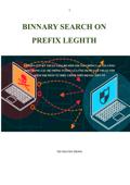 BINNARY SEARCH ON PREFIX LEGHTH Book Cover
