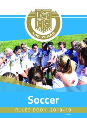 2018-19 NFHS Soccer Rules Book - NFHS book