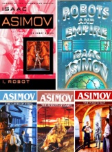 Robot Series Collection by Isaac Asimov: I Robot, The Caves of Steel, The Naked Sun, The Robots of Dawn, Robots and Empire.