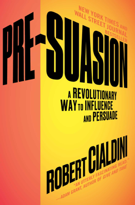 Pre-Suasion - Robert Cialdini book