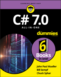 C# 7.0 All-in-One For Dummies Book Cover