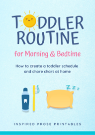 Toddler Routine for Morning & Bedtime: How to Create a Toddler Schedule and Chore Chart at Home