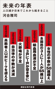 未来の年表 人口減少日本でこれから起きること Book Cover