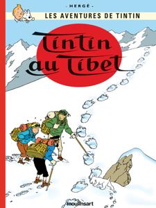 Tintin au Tibet La couverture du livre martien