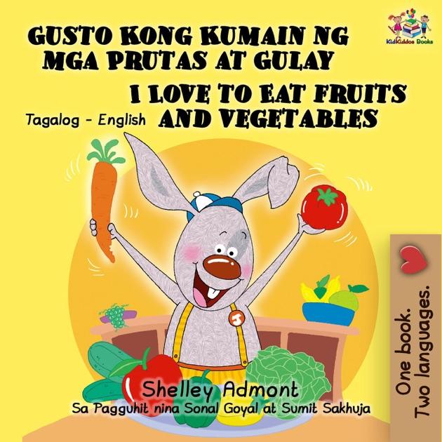 Aparador Alto Moderno ~  u201eGusto Kong Kumain ng mga Prutas at Gulay I Love to Eat