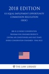 2001-01-22 Energy Conservation Program For Consumer Products - Central Air Conditioners And Heat Pumps Energy Conservation Standards - Final Rule US Energy Efficiency And Renewable Energy Office Regulation EERE 2018 Edition
