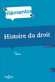 Histoire du droit. Introduction historique au droit et Histoire des institutions publiques