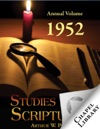 Studies In The Scriptures Annual Volume 1952