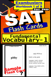 SAT Test Prep Essential Vocabulary 1 Review--Exambusters Flash Cards--Workbook 1 of 9 book