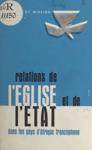 Relations De Lglise Et De Ltat Dans Les Pays DAfrique Francophone