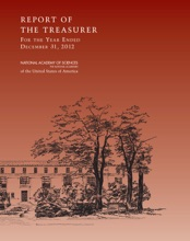Report Of The Treasurer Of The National Academy Of Sciences For The Year Ended December 31, 2012